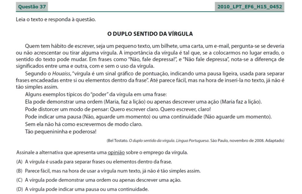 Saresp Em Revista Resultados De Língua Portuguesa 7ef
